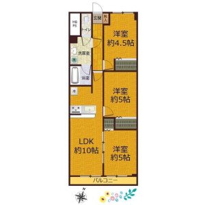 3LDK Apartment in Naritahigashi - Suginami-ku Floorplan