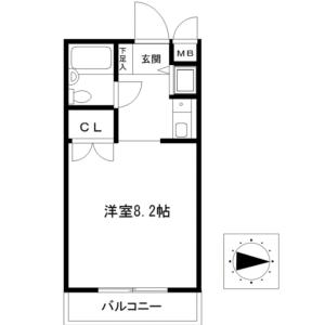 1R {building type} in Nishiayase - Adachi-ku Floorplan