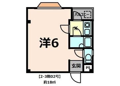 1R Apartment to Rent in Sakai-shi Sakai-ku Floorplan