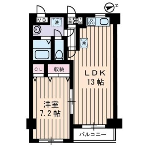 1LDK Mansion in Nakakasai - Edogawa-ku Floorplan