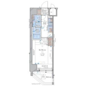 文京區小石川-1K公寓大廈 房間格局