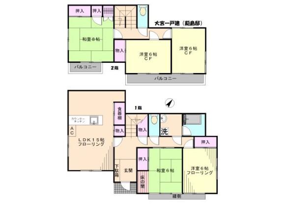 5LDK House to Rent in Saitama-shi Omiya-ku Floorplan