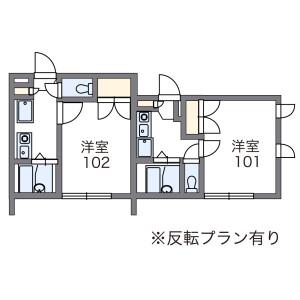 1K Apartment in Kanshuji shimonochayacho - Kyoto-shi Yamashina-ku Floorplan