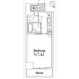 1K Mansion in Kakinokizaka - Meguro-ku Floorplan