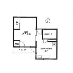 1K Apartment in Taito - Taito-ku Floorplan