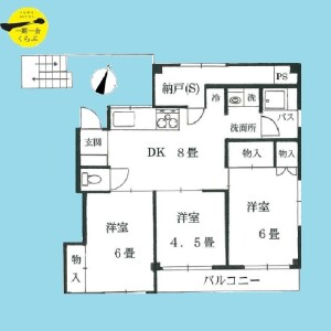 3SDK {building type} in Shakujiimachi - Nerima-ku Floorplan