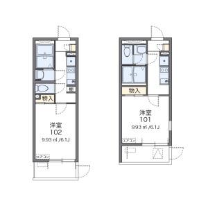 1K Mansion in Temmabashi - Osaka-shi Kita-ku Floorplan