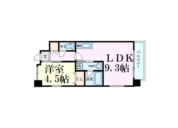 1LDK Apartment to Rent in Osaka-shi Higashiyodogawa-ku Floorplan