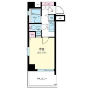1K Mansion in Shibadaimon - Minato-ku Floorplan