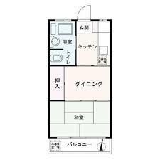 1DK Apartment in Hiyoshihoncho - Yokohama-shi Kohoku-ku Floorplan