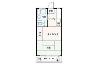 1DK Apartment to Buy in Yokohama-shi Kohoku-ku Floorplan