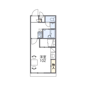 1K Mansion in Abikonishi - Osaka-shi Sumiyoshi-ku Floorplan