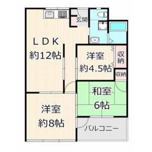 3LDK {building type} in Isshikicho - Kyoto-shi Kamigyo-ku Floorplan