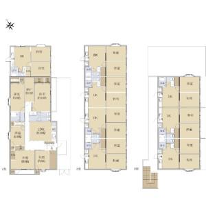 Whole Building {building type} in Yazaike - Adachi-ku Floorplan