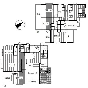 6LDK House in Takabaridai - Nagoya-shi Meito-ku Floorplan