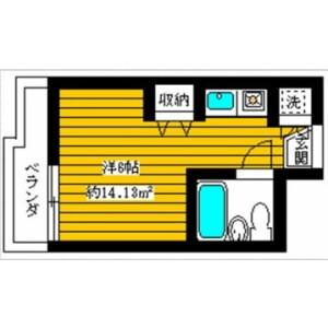1R Mansion in Kamitakada - Nakano-ku Floorplan