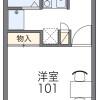在流山市内租赁1K 公寓 的 楼层布局