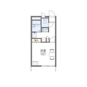 流山市加-1K公寓 楼层布局