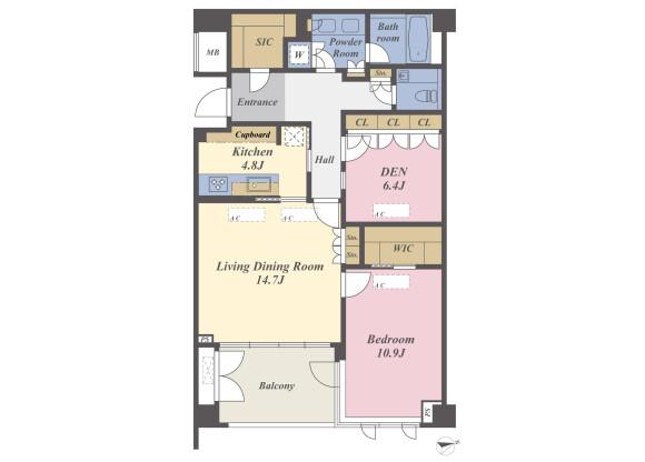 1SLDK Apartment to Buy in Kamakura-shi Floorplan