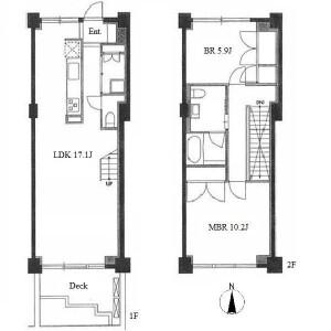 2LDK Apartment in Otanacho - Nagoya-shi Chikusa-ku Floorplan