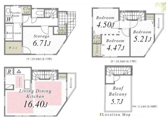 4LDK House to Buy in Adachi-ku Floorplan