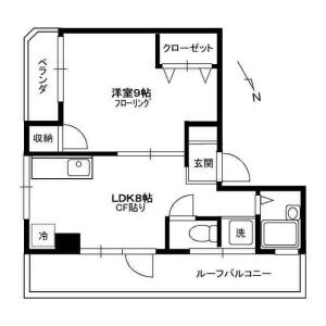 1LDK Mansion in Nagasaki - Toshima-ku Floorplan