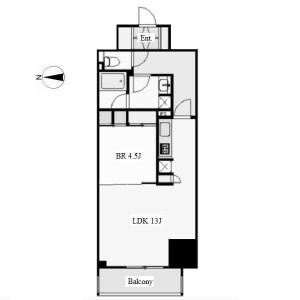 1LDK Mansion in Uchiyama - Nagoya-shi Chikusa-ku Floorplan