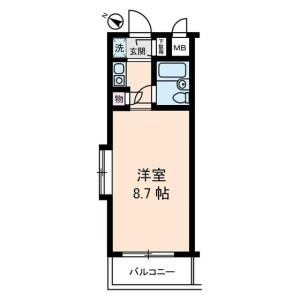 1R Mansion in Shakujiidai - Nerima-ku Floorplan