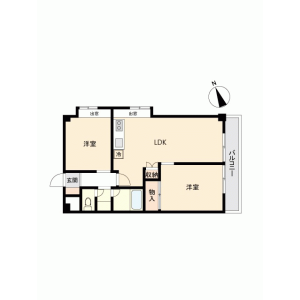 2LDK {building type} in Kamiikebukuro - Toshima-ku Floorplan