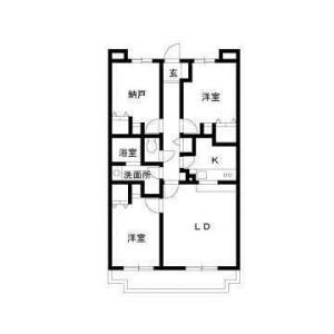 2SLDK Mansion in Inukura - Kawasaki-shi Miyamae-ku Floorplan