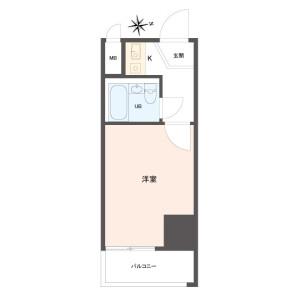 1K {building type} in Motomachidori - Kobe-shi Chuo-ku Floorplan