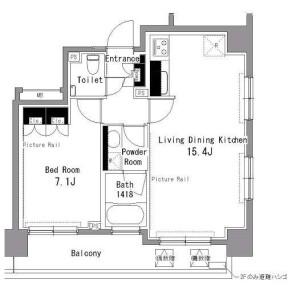 1LDK Apartment in Sakuragaokacho - Shibuya-ku Floorplan