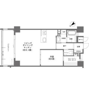 1LDK {building type} in Maeda - Kunigami-gun Onna-son Floorplan