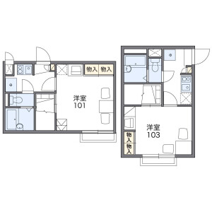 1K Apartment in Nagatsuta - Yokohama-shi Midori-ku Floorplan