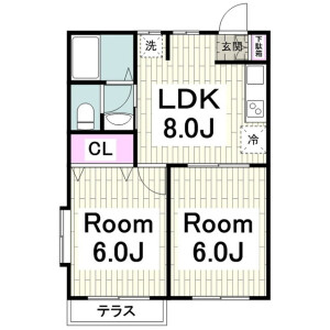 2LDK Apartment in Higashiasahina - Yokohama-shi Kanazawa-ku Floorplan