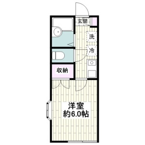 1K Apartment in Nango - Chigasaki-shi Floorplan