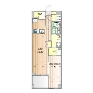 1LDK Mansion in Nakacho - Meguro-ku Floorplan
