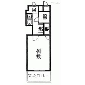 1R {building type} in Sengendai - Yokohama-shi Nishi-ku Floorplan