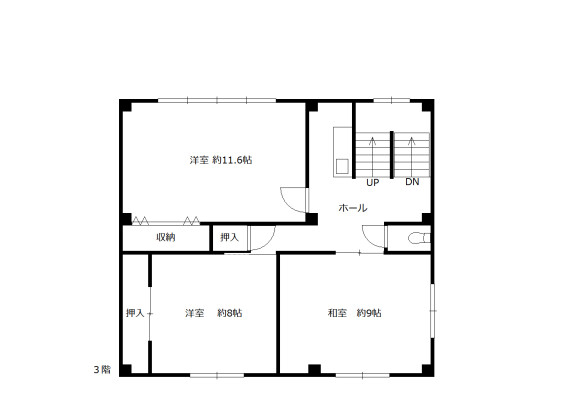 Shared Guesthouse to Rent in Kyoto-shi Ukyo-ku Floorplan