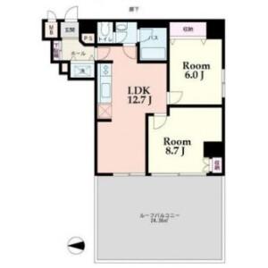 2LDK Apartment in Mita - Minato-ku Floorplan