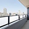 在大阪市中央區購買1LDK 公寓大廈的房產 陽台