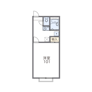 1K Apartment in Mita - Minato-ku Floorplan