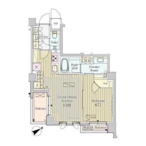 涩谷区神宮前-1LDK公寓大厦 楼层布局