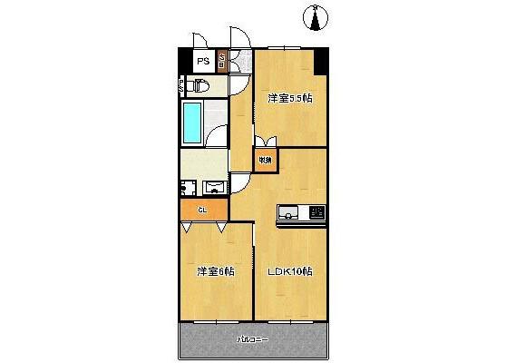 2LDK Apartment to Rent in Edogawa-ku Floorplan