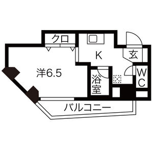 1K Apartment in Motomachi - Osaka-shi Naniwa-ku Floorplan