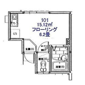 1R Apartment in Kitakase - Kawasaki-shi Saiwai-ku Floorplan