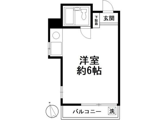 1R マンション 渋谷区 間取り