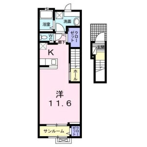 1K Apartment in Nakamachi - Setagaya-ku Floorplan