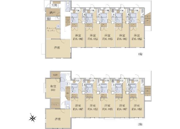 在世田谷區購買整棟 公寓的房產 房間格局