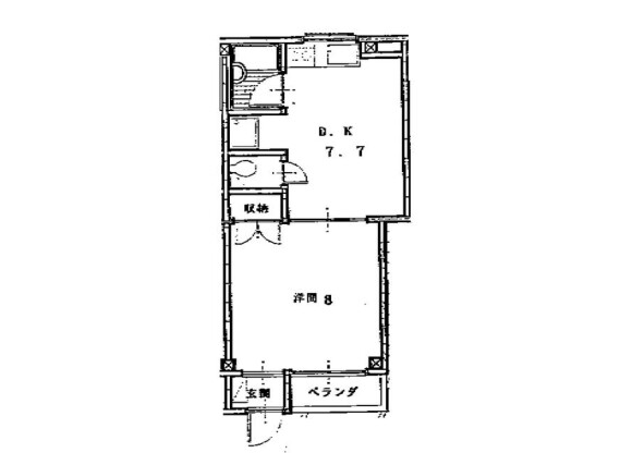 1DK 맨션 to Rent in Shinjuku-ku Floorplan